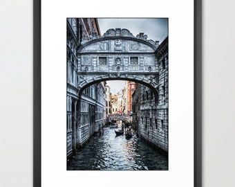 Venice Bridge of Sighs, Italy, Gondolas, Canal, Fine Art Photography, fPOE, Architecture, (6 Sizes)