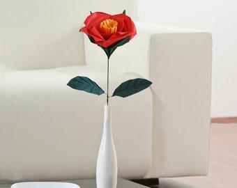 Camellia, Paper Flower, Unique Flower, Camellia Flower, Table Decoration, Home Decor, Flower Decorations, Origami Camellia