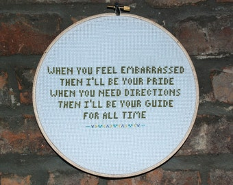 "Death Cab For Cutie Cross Stitch Lyrics- ""Passenger Seat"" from Transatlanticism"