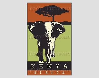 Africa Kenya Cross Stitch, Kenya Africa Pattern, African Cross Stitch, African Pattern, Africa, Africa Pattern by NewYorkNeedleworks on Etsy