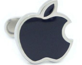 Black Apple Cufflinks