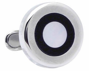 Black Line shell Cufflinks