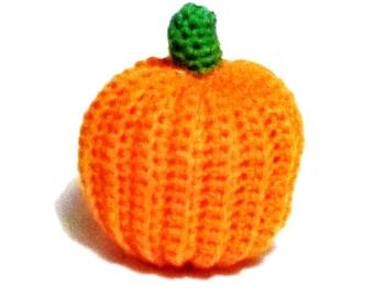 Pumpkin Crochet Decoration or Cat toy