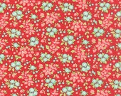 ONE YARD Wildflowers Red Hello Darling by Bonnie and Camille for Moda