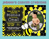 Bumble Bee Birthday Party Invitation
