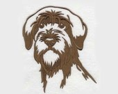 Wirehaired Pointing Griffon Tea Towel | Dog Silhouette Embroidered Towel | Embroidered Tea Towel | Personalized Kitchen Towel