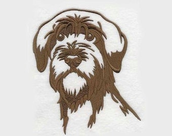 Wirehaired Pointing Griffon Tea Towel | Dog Kitchen Towel | Dog Lover Gift | Personalized Dish Towel | Embroidered Tea Towel