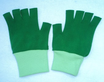 New Ash Ketchum Trainer Pokemon Costume Gloves -  Green or Yellow cuffs  choose size