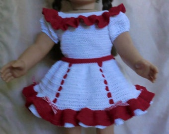 AG 233 Square Dance Outfit  Crochet Pattern for American girl dolls