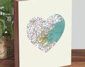 Boston Map Print - Boston Map Art - Boston Map