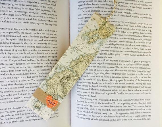 Handmade Bookmark Nautical Coastal Maine Map By EasternEden