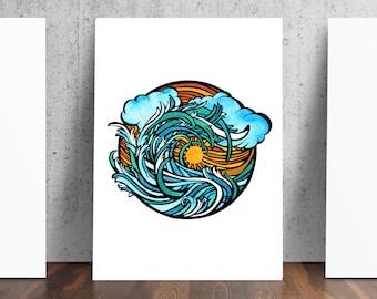 Summer Surf Print