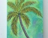 Tropical Palm Tree Original Acrylic Painting
