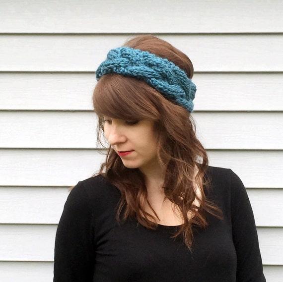 Cable Knit Headband / Chunky Braided Headband / Earwarmer