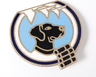 Vintage pin, Dog,  Badge, from USSR.