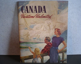 Vintage Mid Century Travel Guide - Canada - Vacations Unlimited