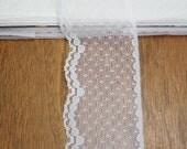 Flat White Nylon Lace Over 19 Yards