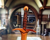 Hair Stick - Fantasy Sword 8 Hair Toy  in Cherry Wood