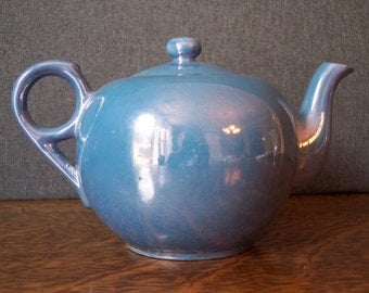 Lusterware Blue Teapot Made in Japan