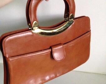 1980's Brown Purse Handbag