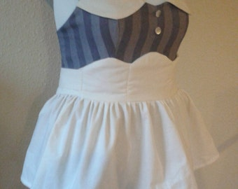 Custom made to order BioShock Sweet Heart Halter Ruffled Dress and Apron