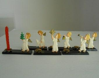 miniature angel figurine candle holders Western Germany