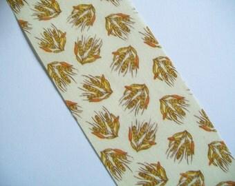 Ribbon Destash ~ Vintage Wheat Print Flat Edged Ribbon