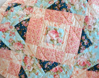 Baby Quilt, Shabby Chic Little French Baby