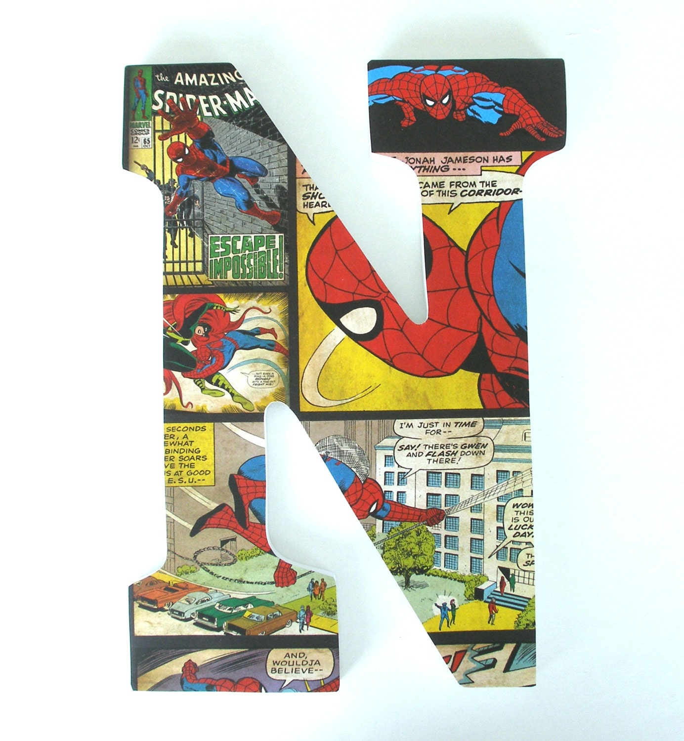 Spiderman Wooden Letters For Bedroom Baby Boy Nursery Decor