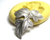 Curled Oak Leaf Mold, Leaf Mold, Flexible Silicone Mold, Jewelry Mold, Polymer Clay Mold, Resin Mold, Craft Mold, Food Mold, PMC Mold