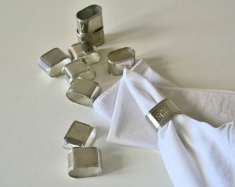 Vintage Silverplated Napkin Rings,Initial GCE