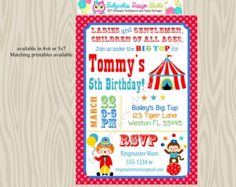 Circus invitation, circus invite, carnival invitation, carnival birthday invitation, carnival theme party, printable DIY digital
