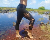 Capri Tiger's Eye Braided Leggings // Handwoven, Made in the USA // Great for Yoga, Hooping, and Dance