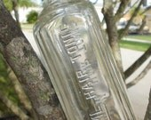 Antiique Hair Tonic Bottle, Barber shop decor, Apothecary, Ebossed old bottle, Hair stylist gift