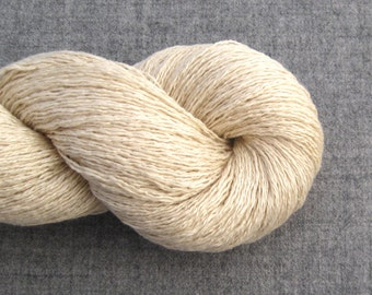 Heavy Lace Weight Silk Cashmere Recycled Yarn, Champagne, 560 yards, Lot 020815