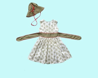 1950s Child's Dress and Hat Set