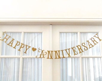 Happy Anniversary.  Happy Golden Anniversary.  Happy 50th Anniversary.  Ships Priority.  Decorations.  5280 Bliss.