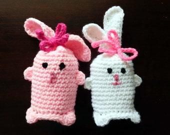 PDF Instant Download Easy Crochet Pattern No 131 Bunny Crochet Gift Bag