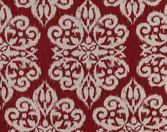 1 Pillow Cover sangria red ikat linen textured, other colors and other sizes available