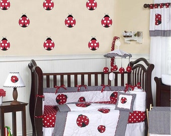 Ladybugs - 3 inch-(18 pieces) Vinyl Lettering  decal wall words graphics Home decor itswritteninvinyl
