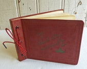 Vintage Handwritten Student Diary from 1937-1938 - Scrapbooking or Altered Art -