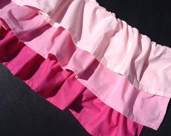 Pink Ombre Valance