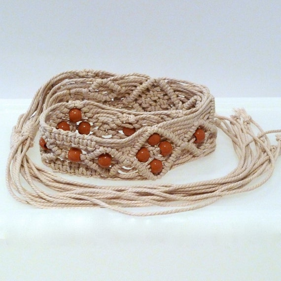macrame belts macrame belt with vintage cord knotted belt 4842