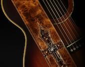 Leather Guitar Strap, Brown Guitar Strap:  Harbinger Relic Guitar Strap