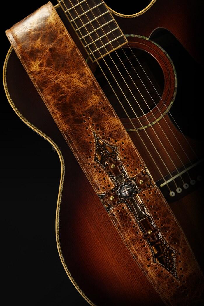 leather guitar strap brown guitar strap harbinger relic. Black Bedroom Furniture Sets. Home Design Ideas