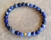 "Faceted Sodalite ""peace"" bracelet"