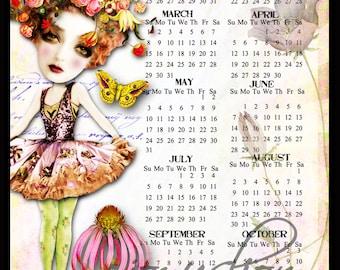 Free 2015 Digital Art Calendar - 4x6