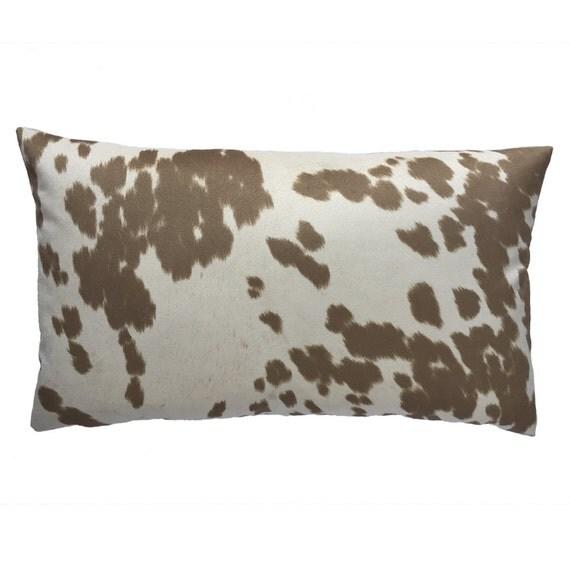 Reversible Animal Pillow : Cow Abunga Cafe Latte Reversible Pillow by ChloeandOliveDotCom