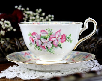 Queen Anne Royal Bridal Gown Teacup and Saucer, Brides Tea Cup and Saucer 13113