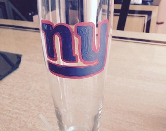 Hand Painted Giants Beer Glass